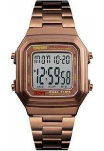 Relógio Skmei Digital Masculino - Masculino-Dourado