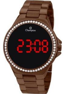 Relógio Champion Digital Ch40151R Feminino - Feminino-Marrom