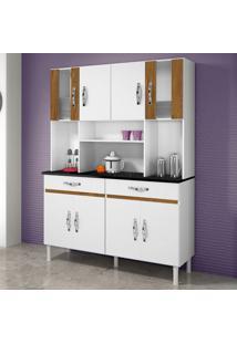 Cozinha Compacta Ventura 8 Pt 2 Gv Branco E Caramelo