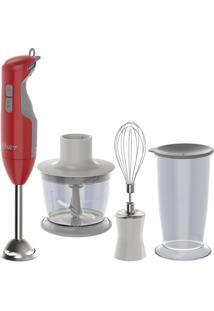 Kit Mixer Delight Vermelho E Panela Facile Oster 220V