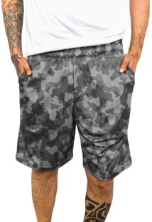 Bermuda Dri-Fit Chess Clothing Camuflada Cinza