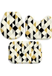 Jogo Tapetes Love Decor Para Banheiro Multi Triângulos Amarelo Único - Kanui