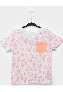 Camiseta Infantil Gap Básica Cactos - Masculino