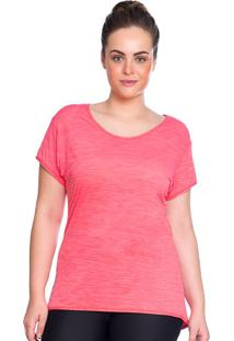 Camiseta Plus Baby Look Rosa | 553.822P