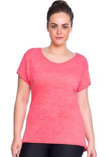 Camiseta Plus Baby Look Rosa | 553.822P