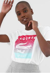 Camiseta Lacoste Logo Branca - Branco - Feminino - Dafiti