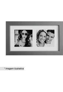 Kapos Painel Multifotos Insta Prateado & Branco 15X28X1,5Cm