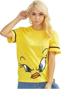 Camiseta Bandup! Piu-Piu Face Oficial - Feminino-Amarelo