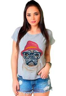 Camiseta Shop225 Dog Pug Fashion Mescla