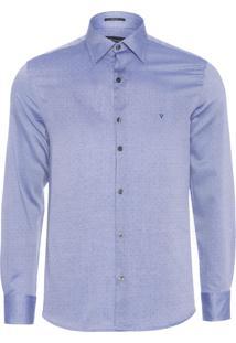 Camisa Masculina Maquineta - Azul