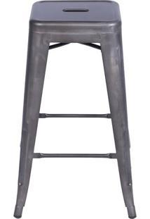 Banqueta Retrã´ Alta- Bronze- 78X41,5X41Cm- Or Deor Design