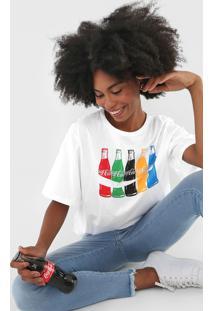 Camiseta Coca-Cola Jeans Colors Branca