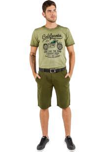 Bermuda Latifundio Classic Verde Militar