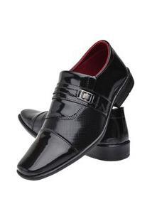 Sapato Social Masculino Verniz Mr Try Shoes Bico Quadrado Preto