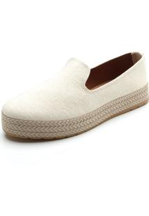Slipper Dafiti Shoes Pesponto Off-White