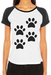 Camiseta Raglan Criativa Urbana 4 Patas Love Pet - Feminino