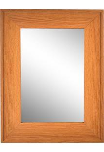 Espelho Wood Dolce Home 41X36Cm Marrom