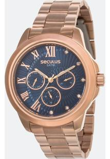 Relógio Feminino Seculus 28970Lpsvrs1 Analógico 5Atm