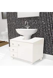 Gabinete Para Banheiro 3 Gavetas 1 Porta San Martino Móveis Bonatto