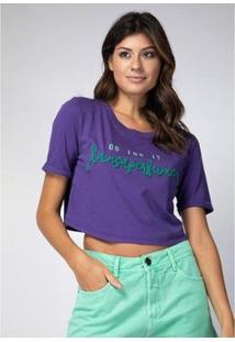 T-Shirt Cropped Lança Perfume Feminina - Feminino