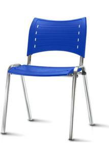 Cadeira Iso Assento Azul Base Cromada - 54028 - Sun House