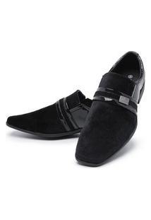 Sapato Social Mr Shoes Camurça Preto