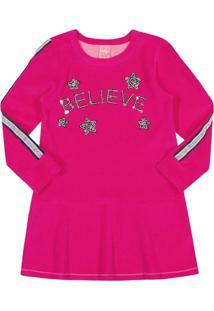 Vestido Kinha Primeiros Passos Em Plush Outono Inverno 03 Pink