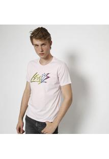 "Camiseta ""Califã³Rnia & Levi'Sâ®"" - Branca & Rosalevis"
