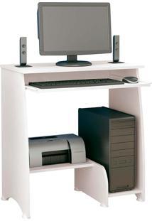 Mesa Para Computador Com 3 Prateleiras Pixel - Artely - Branco