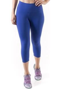 Calça Corsário Mama Latina Básico Suplex - Feminino-Azul Escuro