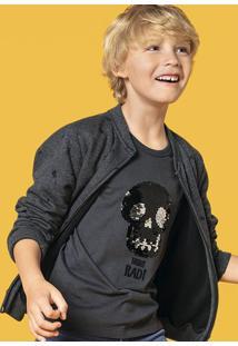Camiseta Infantil Menino Com Bordado Interativo Hering Kids