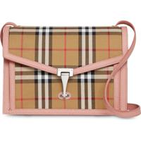 Burberry Small Vintage Check And Leather Crossbody Bag - Neutro 463e77990ca