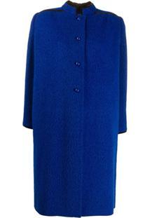 Valentino Pre-Owned Casaco De Alfaiataria Com Abotoamento Simples - Azul