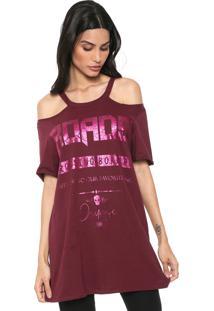 Camiseta Osmoze Off Sholder Vinho