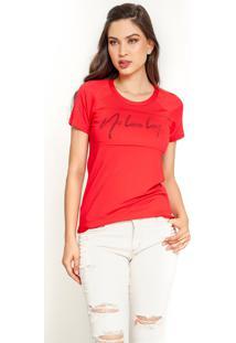 T-Shirt Dialogo Estampa No Love Lost Vermelha - Kanui