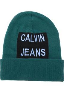 5264c60e0a0b8 Calvin Klein Jeans Gorro Com Logo Bordado - Green