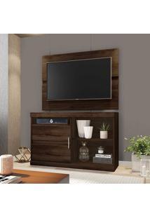 Rack Com Painel Para Tv Até 42 Polegadas 1 Porta Fenix Capuccino - Móveis Germai