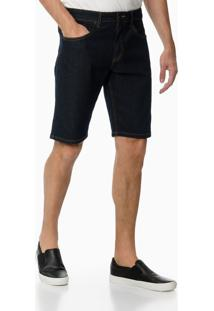 Bermuda Jeans Five Pockets - Azul Marinho - 38