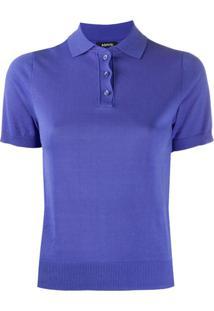 Aspesi Camisa Polo De Tricô - Azul
