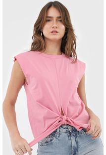 Camiseta Colcci Amarração Rosa - Kanui
