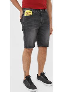 Bermuda Jeans Colcci Reta Davi Preta