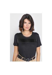 Camiseta Dudalina Faixa Preta