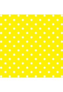 Papel De Parede Adesivo Poa Branco Com Fundo Amarelo (0,58M X 2,50M)