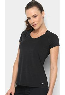 Camiseta Mizuno Active Feminina - Feminino-Preto
