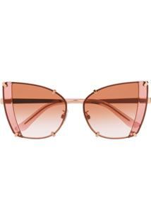 Dolce   Gabbana Eyewear Faceted Butterfly Sunglasses - Rosa 4e17450b42