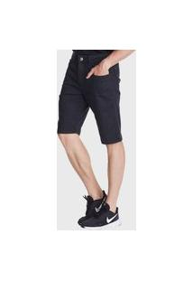 Bermuda Jeans Hno Jeans Amaciada Preto