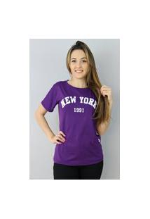 Camiseta New York Roxa
