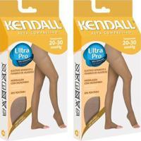0da5c7b06 Kit Com 2 Meia-Calça Kendall Alta Compressão Sem Ponteira - Feminino-Bege