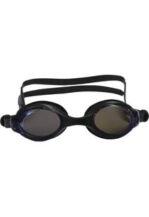 Óculos De Natação Astro Com Lente Policarbonato Espelhada Preto - Nautika 500250
