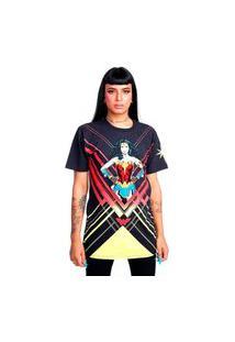 Camiseta Wonder Woman Be A Hero Preto